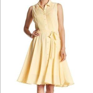 Nanette Lepore Sleeveless Pleated A line Dress